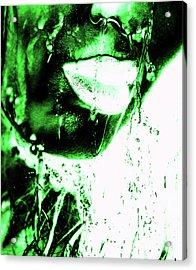 Rain Green  Acrylic Print