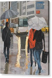 Rain In Midtown Acrylic Print