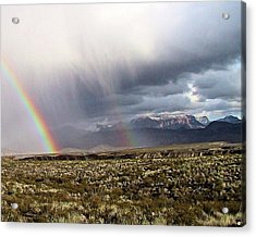 Acrylic Print featuring the painting Rain In The Desert by Dennis Ciscel