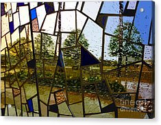 Rain On Glass Acrylic Print by David Lee Thompson