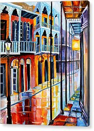 Rain On Royal Street Acrylic Print by Diane Millsap