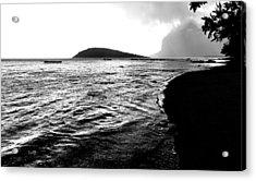 Rain On Sea And Shore Acrylic Print