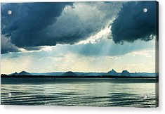 Rain On The Glass Mountains Acrylic Print