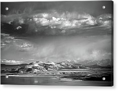 Acrylic Print featuring the photograph Rain Over Crater Mountain by Alexander Kunz