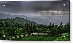 Acrylic Print featuring the photograph Rain Over The Silesian Beskids by Dmytro Korol