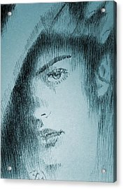 Rain Acrylic Print by Robbi  Musser