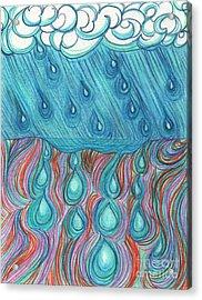 Rain Saturation By Jrr Acrylic Print