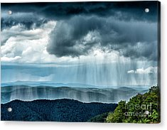 Acrylic Print featuring the photograph Rain Shower Staunton Parkersburg Turnpike by Thomas R Fletcher