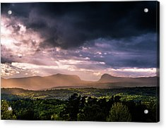 Rain Showers Over Willoughby Gap Acrylic Print