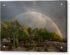 Acrylic Print featuring the photograph Rain Then Rainbows by Dan McManus