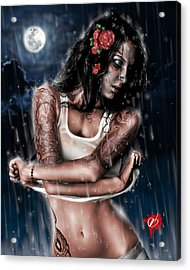 Rain When I Die Acrylic Print by Pete Tapang