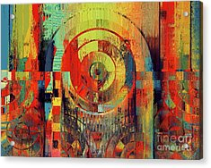 Acrylic Print featuring the digital art Rainbolo - 01t01ii by Variance Collections