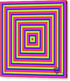 Acrylic Print featuring the digital art Rainbow #1 by Barbara Tristan