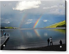Rainbow 1 Acrylic Print by Marty Koch