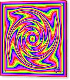 Acrylic Print featuring the digital art Rainbow #2 by Barbara Tristan