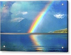 Rainbow 3 Acrylic Print by Marty Koch