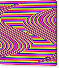 Acrylic Print featuring the digital art Rainbow #5 by Barbara Tristan