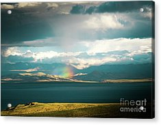 Rainbow Above Lake Manasarovar Kailash Yantra.lv Acrylic Print