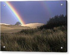 Rainbow And Dunes Acrylic Print