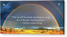 Martin Luther King - Justice Acrylic Print