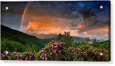 Rainbow And Rhododendrons On The Parkway Acrylic Print