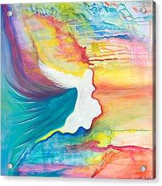 Rainbow Angel Acrylic Print by Leti C Stiles