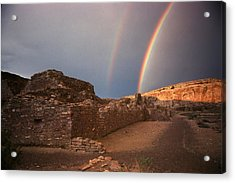 Rainbow At Chetro Kettle Acrylic Print
