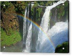 Rainbow At Iguazu Falls Acrylic Print