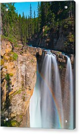 Acrylic Print featuring the photograph Rainbow At Johnston Creek by Owen Weber