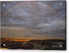 Rainbow At Sunset Acrylic Print by Melany Sarafis
