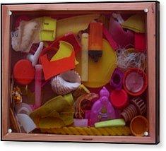 Rainbow Beach Box I Acrylic Print by Adam Kissel