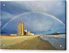 Rainbow Beach Acrylic Print by Kelly Reber