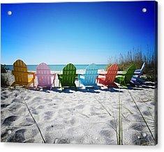Rainbow Beach Vanilla Pop Acrylic Print by Chris Andruskiewicz