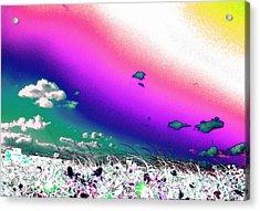 Rainbow Borealis Acrylic Print