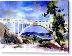 Rainbow Bridge Above Donnerlk#2 Acrylic Print
