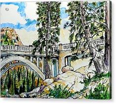 Rainbow Bridge At Donner Summit Acrylic Print