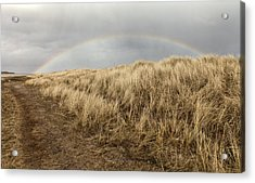 Rainbow By The Seaside Acrylic Print by Mike Santis