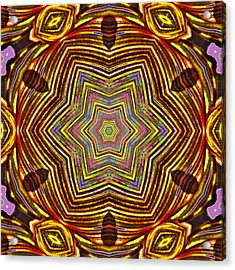 Rainbow Canna Acrylic Print by Brian Gryphon