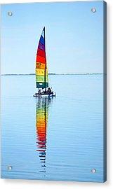 Rainbow Catamaran Acrylic Print
