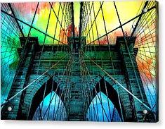Rainbow Ceiling  Acrylic Print by Az Jackson