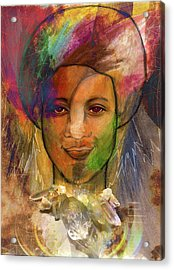 Rainbow Child Acrylic Print