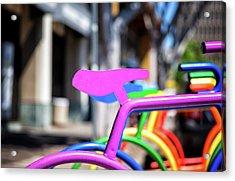 Rainbow City Acrylic Print
