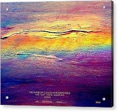 Rainbow Clouds - Blown Away Now - A Lament Acrylic Print