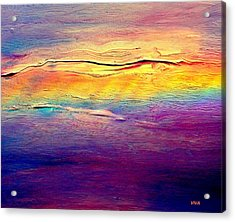 Rainbow Clouds Full Spectrum Acrylic Print by VIVA Anderson
