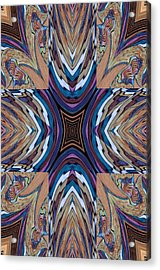 Rainbow Cross Acrylic Print by Ricky Kendall