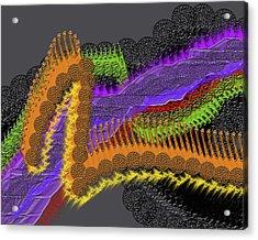Rainbow Currents Acrylic Print