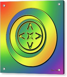 Acrylic Print featuring the digital art Rainbow Design 2 by Chuck Staley