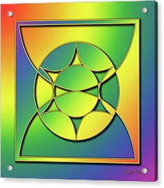 Acrylic Print featuring the digital art Rainbow Design 3 by Chuck Staley