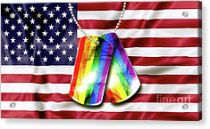 Rainbow Dog Tags Acrylic Print