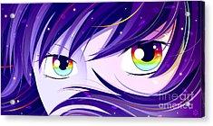 Rainbow Eyes Acrylic Print by Sandra Hoefer